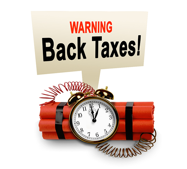 WARNING BACK TAXES